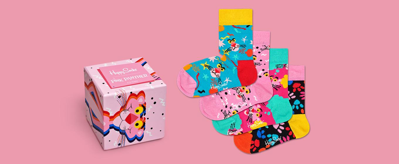 Happy Socks x Pink Panther Kids Giftbox