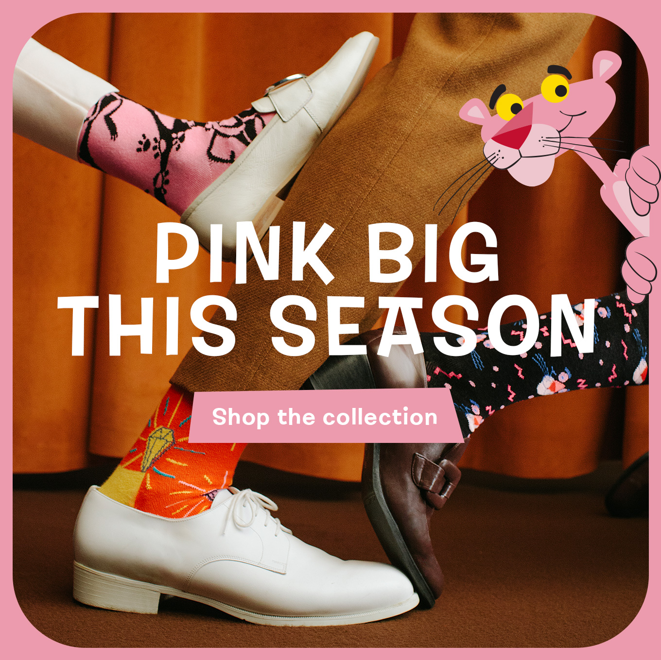 Special Edition Collection Happy Socks x Pink Panther